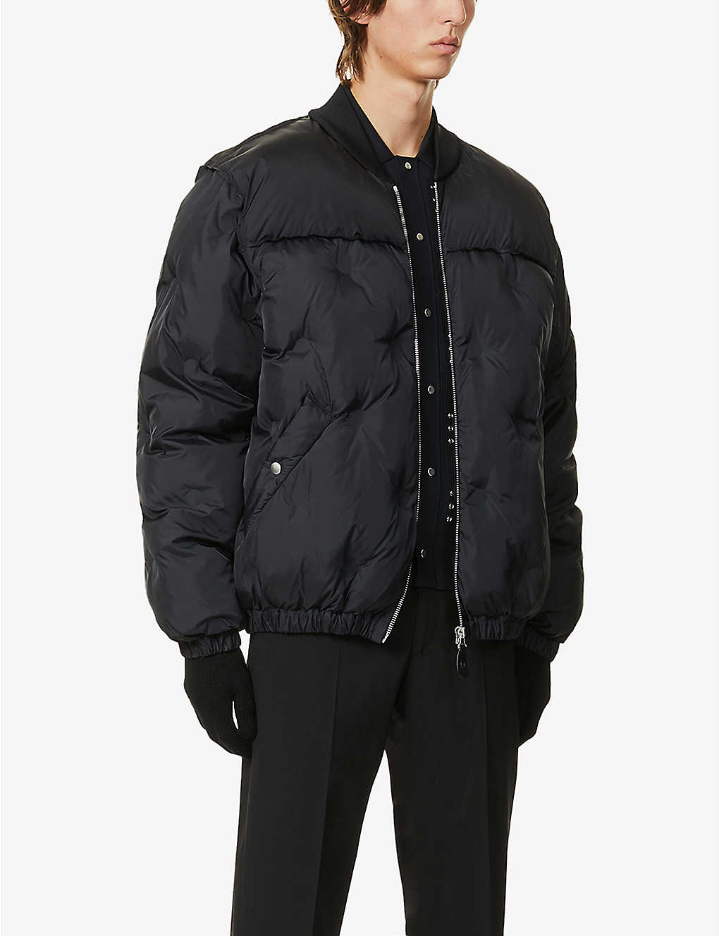 MAISON MARGIELA: Oversized quilted shell-down jacket