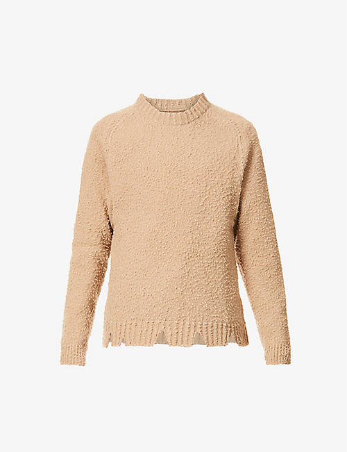 MAISON MARGIELA: Distressed wool jumper