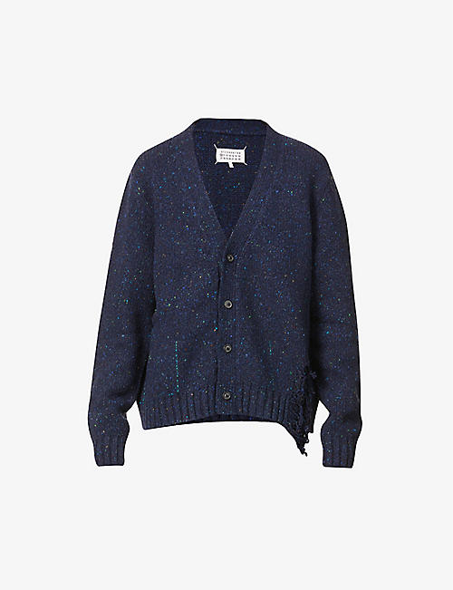 MAISON MARGIELA: Laddered wool-blend cardigan