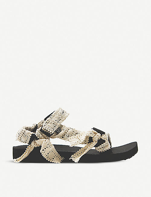 ARIZONA LOVE: Trekky Fun leopard-print woven sandals