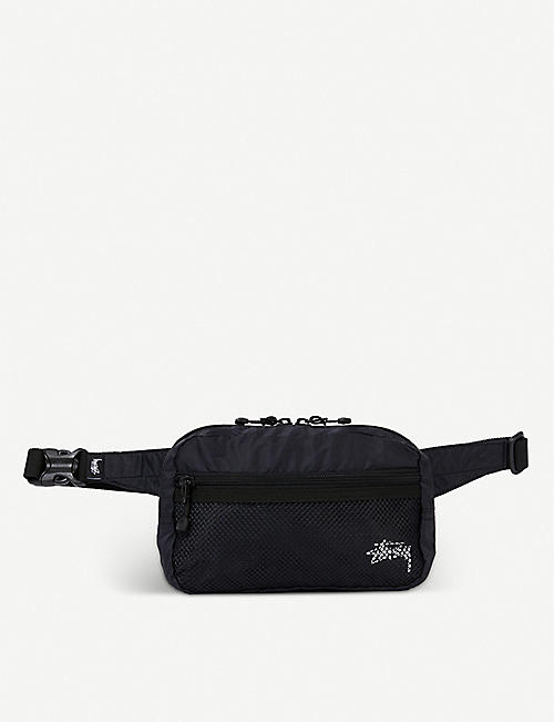 STUSSY: Logo-embroidered nylon belt bag