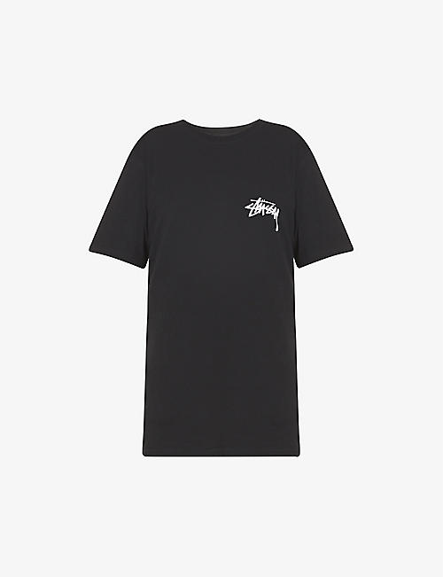 STUSSY: Crown Spade branded cotton-jersey T-shirt