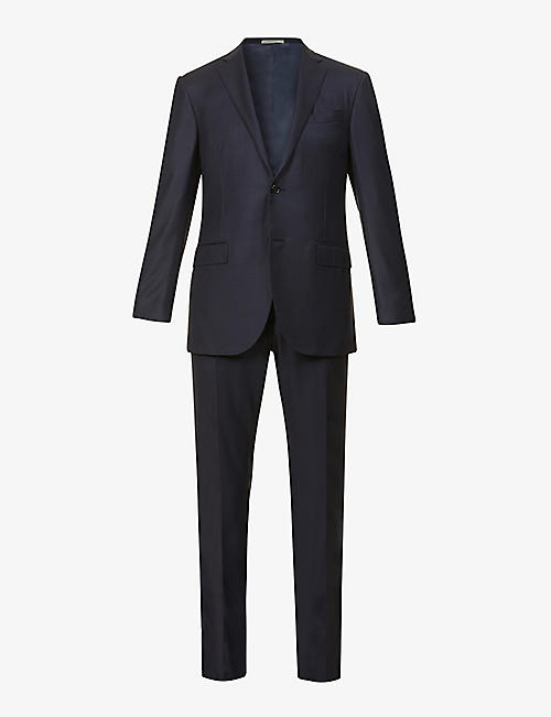 CORNELIANI: Pin-dot single-breasted virgin wool suit