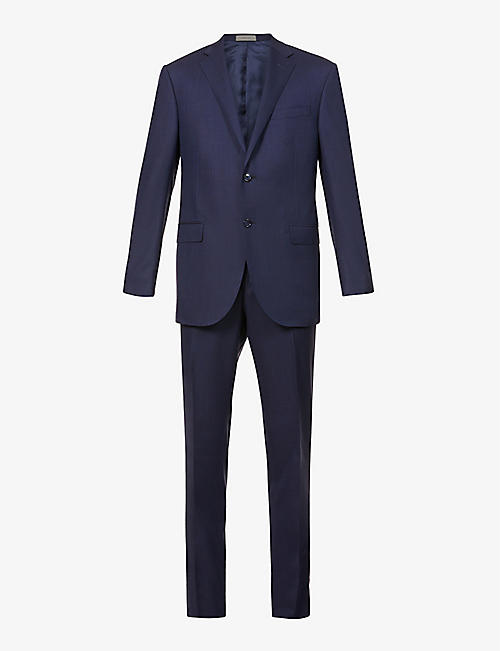 CORNELIANI: Pin-dot single-breasted wool suit