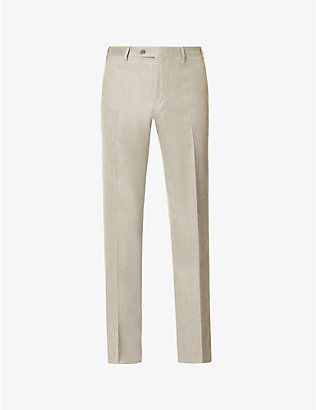 CORNELIANI: Slim-fit wool trousers