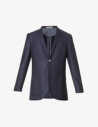 CORNELIANI: Single-breasted virgin wool blazer