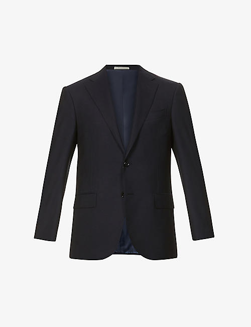 CORNELIANI: Regular-fit wool-hopsack blazer