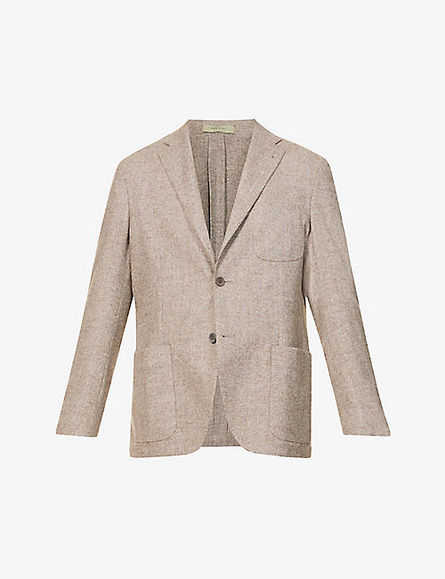 CORNELIANI: Single-breasted wool and cashmere-blend jacket