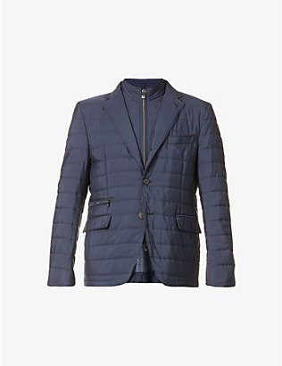 CORNELIANI: Padded shell blazer
