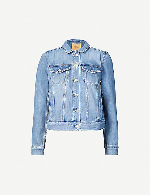 PAIGE: Rowan cotton-blend denim jacket