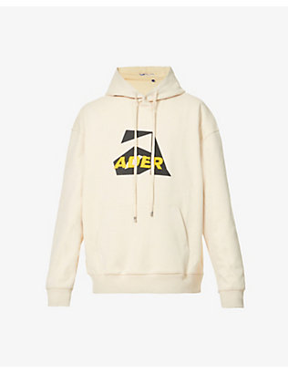 ADER ERROR: Logo-print cotton-blend jersey hoody