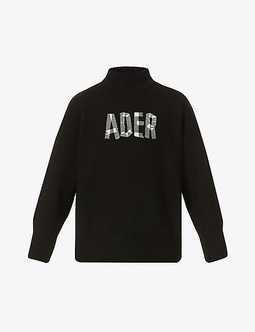 ADER ERROR: Logo-embroidered wool jumper