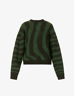 REMAIN BIRGER CHRISTENSEN: Cami striped wool-blend jumper