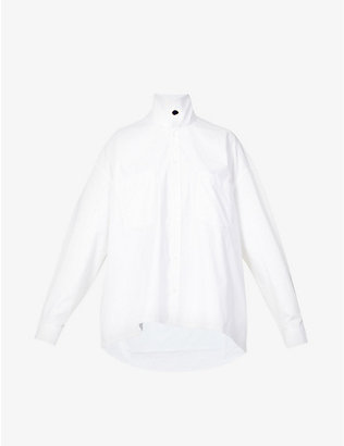 REMAIN BIRGER CHRISTENSEN: Robin high-neck organic cotton shirt