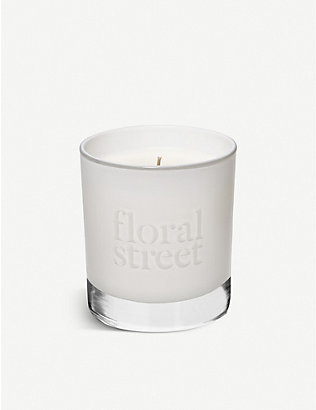 FLORAL STREET: White Rose scented candle 200g