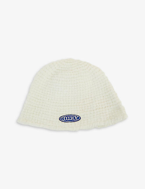 XOXOGOODBOY: Logo-embroidered knitted bucket hat