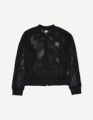 PUMA: Logo-embossed mesh jacket