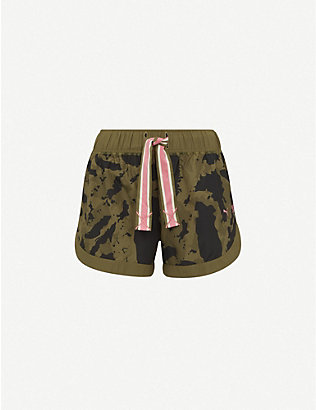 PUMA: Puma x First Mile camouflage-print mid-rise woven shorts
