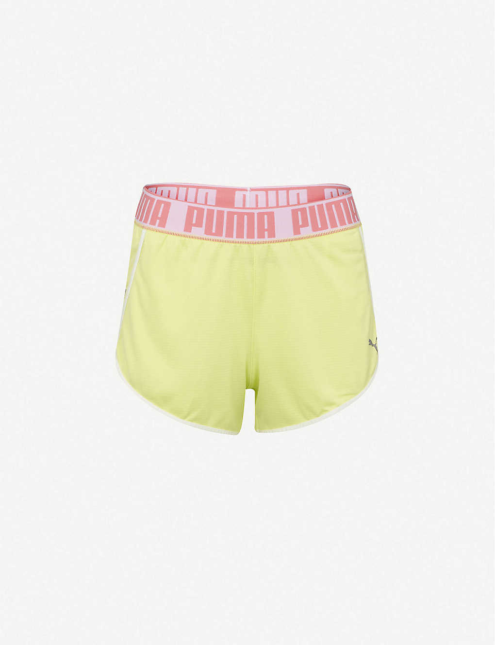 PUMA: Last Lap logo-print mid-rise knitted shorts