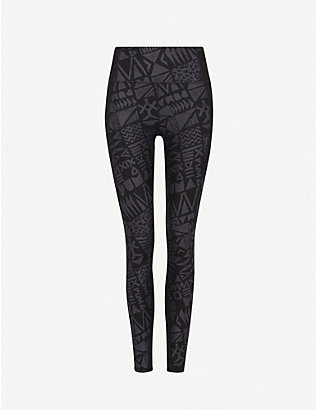 PUMA: Be Bold 7/8 graphic-print high-rise stretch-jersey leggings