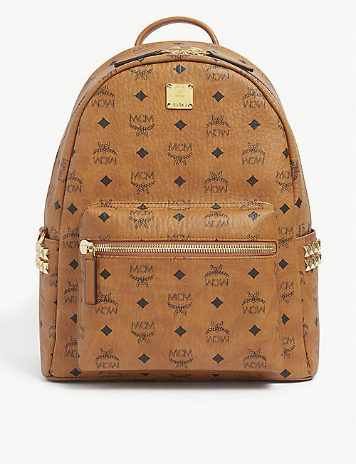 MCM: Stark logo-print coated-canvas backpack