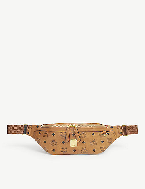 MCM: Fusten medium coated canvas belt bag