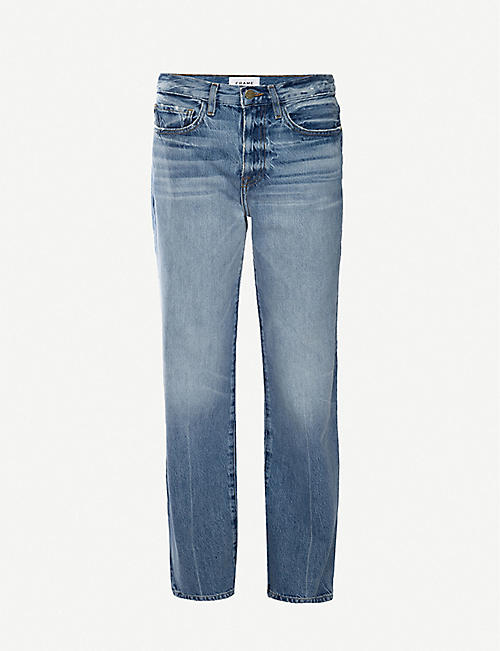 FRAME: Le Jane Glacier straight high-rise jeans