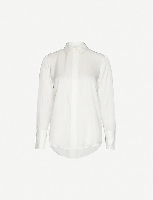 FRAME: Perfect regular-fit silk shirt