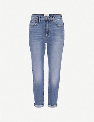 FRAME: Le Garcon straight mid-rise stretch-denim jeans