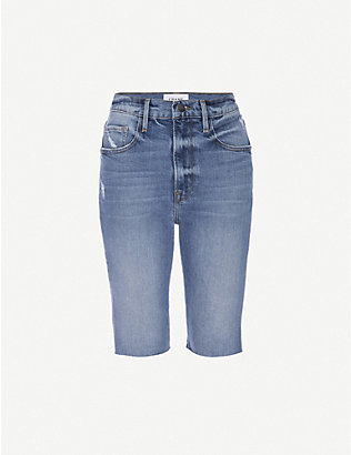 FRAME: Le Vintage Bermuda stretch-denim shorts
