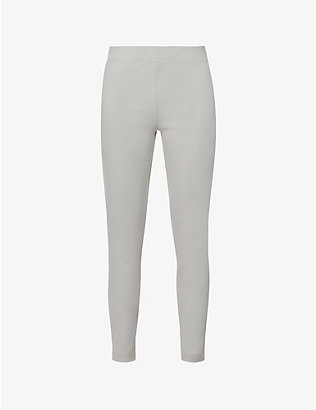 SKIN: Imogen ribbed high-rise stretch-cotton leggings