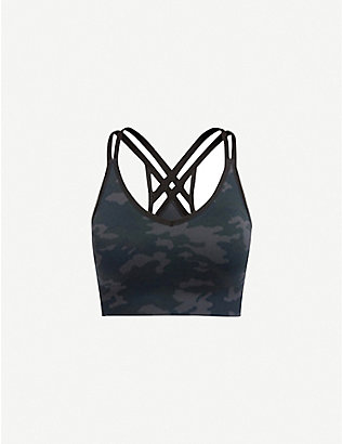 SPANX ACTIVE: Look At Me Now Moto low-impact stretch-woven sports bra