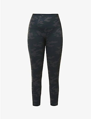 SPANX ACTIVE: Look At Me Now camo-print cropped high-rise stretch-woven leggings