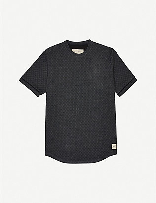 PREVU: Solander checked stretch-woven T-shirt