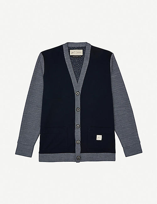 PREVU: Cotall colour-blocked knitted cardigan