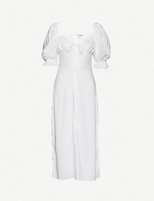 OLIVIA ROSE THE LABEL: Greta short-sleeve silk dress