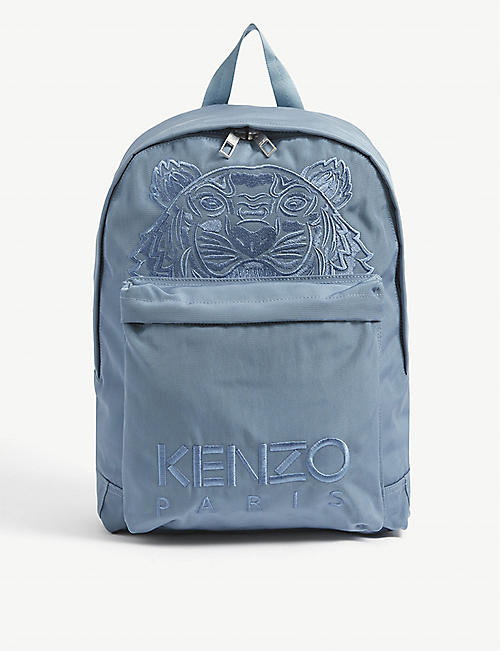 KENZO: Logo-embroidered nylon backpack