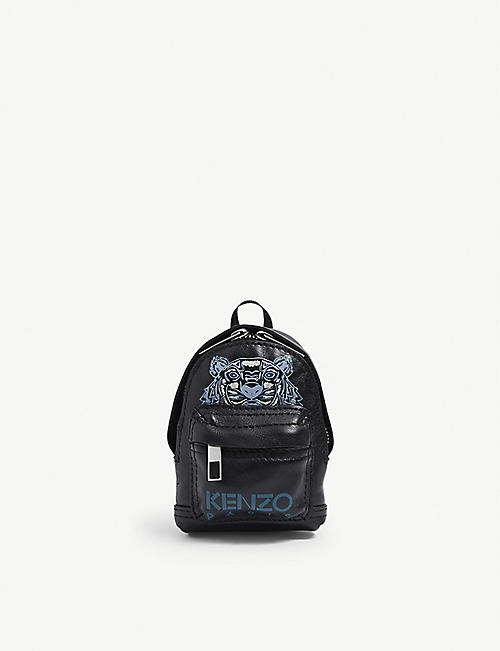 KENZO: Mini backpack leather keyring
