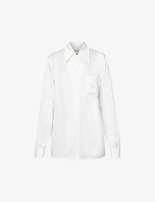 MAISON MARGIELA: Enver relaxed-fit crepe-satin shirt