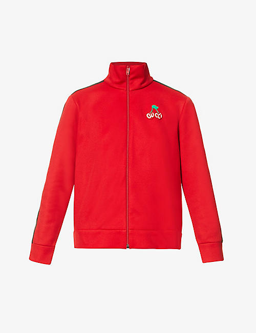 GUCCI: Track cotton-blend jacket