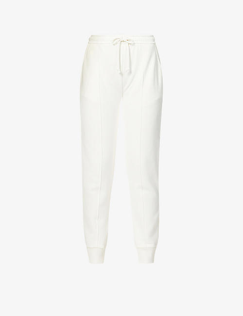 GUCCI: Logo-print mid-rise cotton-jersey jogging bottoms