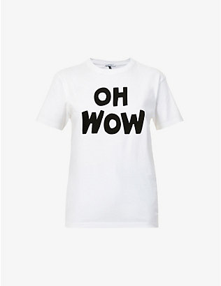 BELLA FREUD: Oh Wow organic-cotton jersey T-shirt