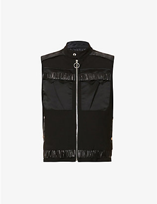 NICOMEDE: Panelled ruched wool gilet