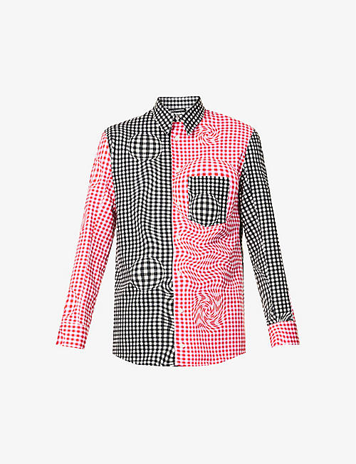NICOMEDE: Gingham regular-fit cotton shirt