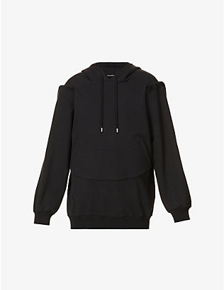NICOMEDE: Contrast-panel cotton-jersey hoody