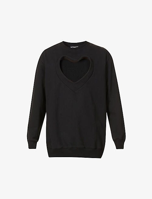 NICOMEDE: Heart cut-out cotton-jersey sweatshirt
