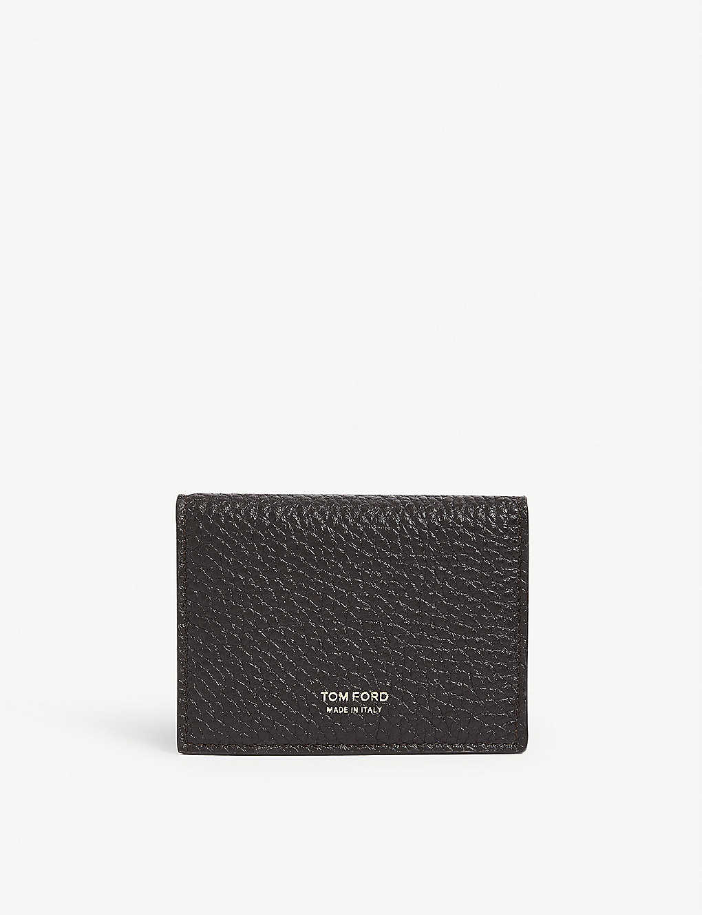 TOM FORD: Grain leather bifold cardholder