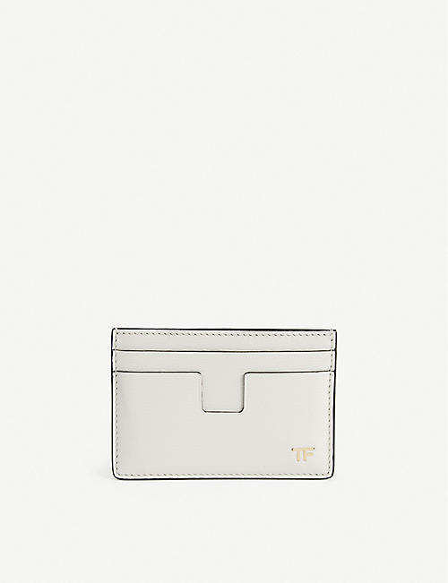 TOM FORD: Logo-embellished leather card holder