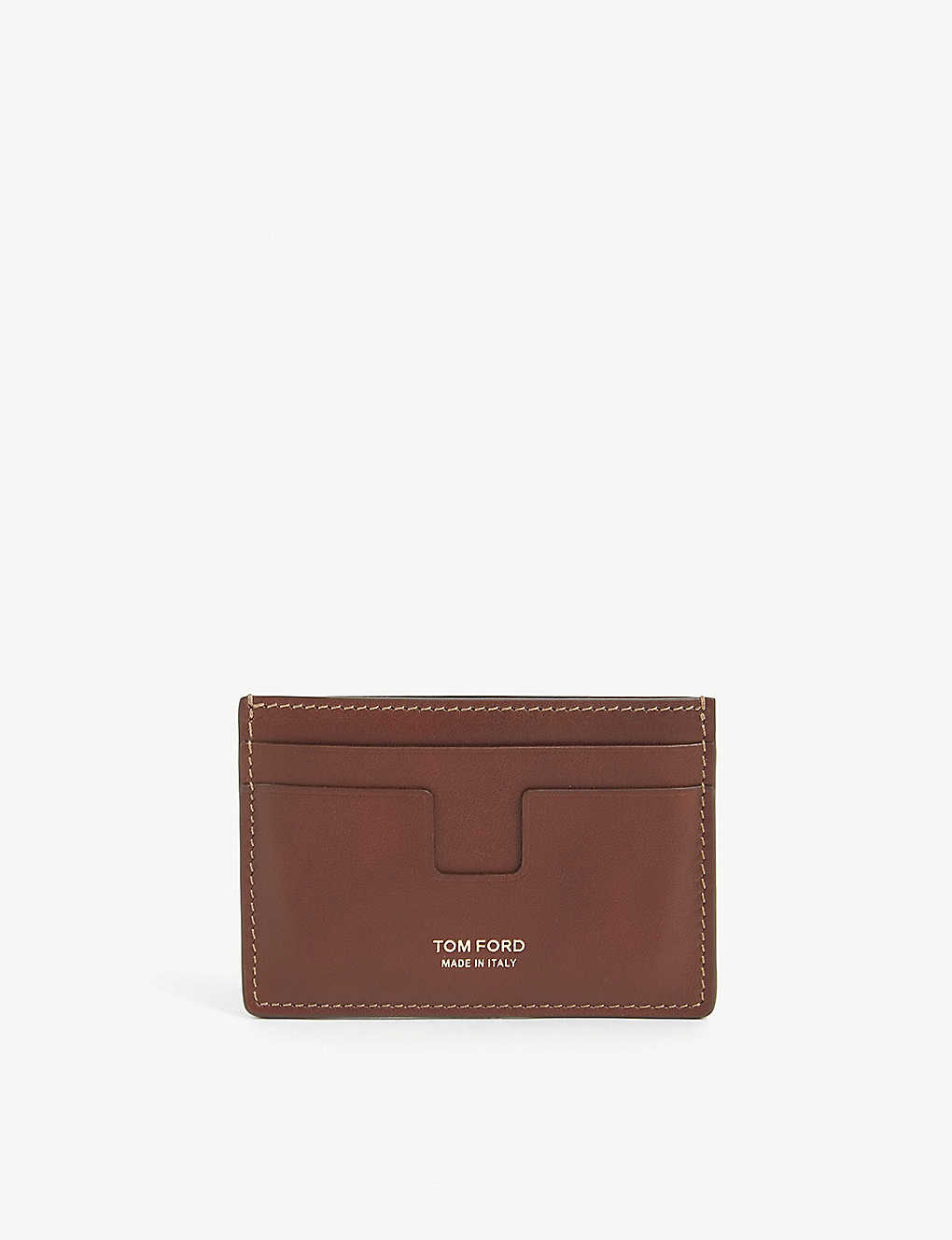 TOM FORD: Logo leather cardholder