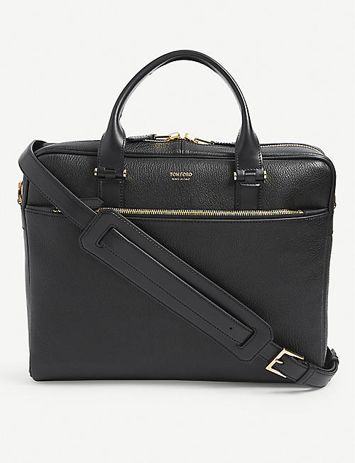 TOM FORD: Grained leather briefcase